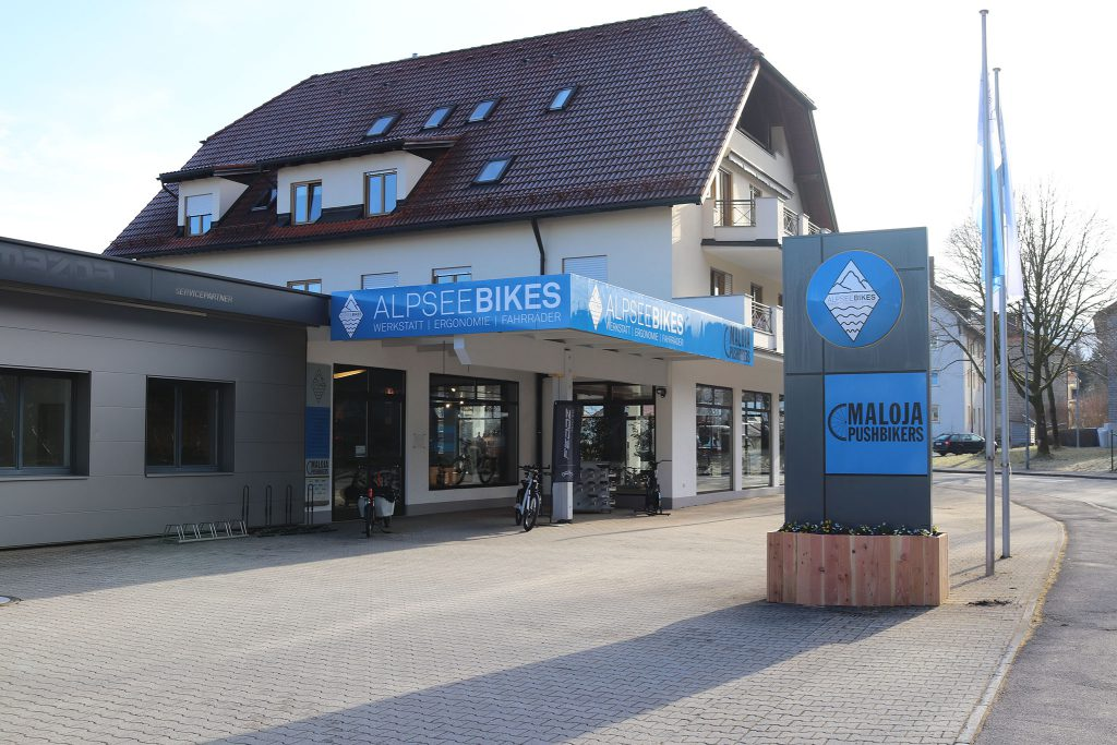 Headquarter mit Alpsee Bikes Shop